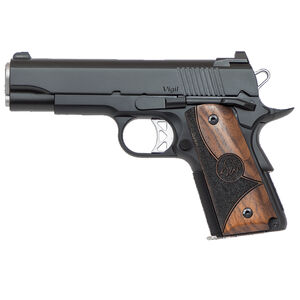 "Dan Wesson 1911 Vigil CCO Semi Auto Pistol .45 ACP 4.25"" Barrel 7 Rounds Fixed Front Night Sight/Tactical Rear Sight Wood Grips Forged Aluminum Frame Matte Black Finish"