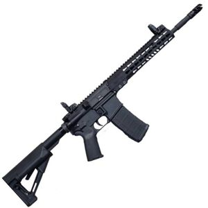 """ArmaLite M-15 Tactical Semi Auto Rifle .223 Rem/5.56 NATO 14.5"""" Barrel Pinned/Welded Muzzle Device 30 Rounds KeyMod Hand Guard Collapsible Stock Matte Black"""