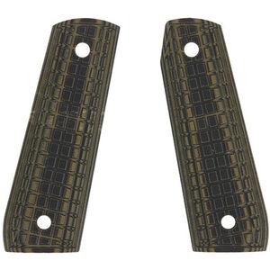 Pachmayr Dominator Ruger 22/45 Grips G10 Coarse Grappler Checkered Green/Black