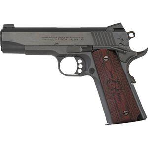 "Colt Combat Commander 1911 .45 ACP Semi Auto Handgun 4.25"" Barrel 8 Rounds G10 Grips Blued Finish"