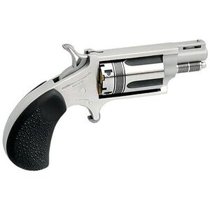 """North American Arms Wasp Revolver .22 WMR 1.125"""" Barrel 5 Rounds Rubber Grips Stainless Frame and Finish NAA-22MS-TW"""