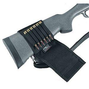 Uncle Mike's Rifle Buttstock Shell Holder Cordura Black 88482