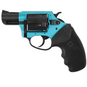 """Charter Arms Undercover Lite Revolver .38 Special +P 2"""" Barrel 5 Round Black Rubber Grip Aluminum Turquoise Black Finish 53864"""