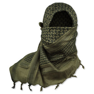 5IVE Star Shemagh Desert Scarf Olive Drab Green/Black