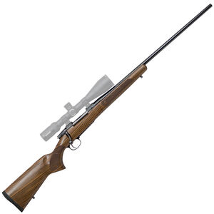 """CZ USA 557 American .243 Winchester Bolt Action Rifle 24"""" Barrel 4 Rounds Turkish Walnut American Style Stock Blued Finish"""