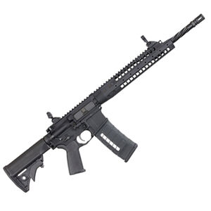 "LWRC Six8-A5 AR-15 Semi Auto Rifle 6.8 Rem SPC 16.1"" Spiral Fluted Barrel 30 Rounds Backup Iron Sights Collapsible Stock Black"