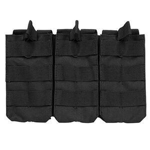 VISM AR-15 Triple Magazine Pouch Heavy Duty PVC Material Black CVAR3MP2928B
