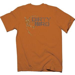 Browning Mens Dirty Bird Mallard Short Sleeve T Shirt Cotton Orange Medium