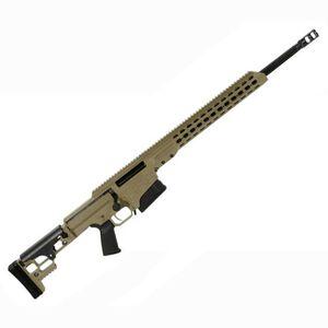 "Barrett Firearms Manufacturing MRAD Bolt Action Rifle .308 Winchester 17"" Barrel 10 Rounds Folding Stock Tan Cerakote 14343"