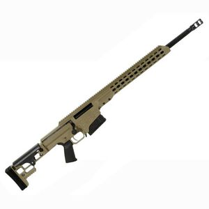 "Barrett Firearms Manufacturing MRAD Bolt Action Rifle .308 Winchester 17"" Barrel 10 Rounds Folding Stock Tan Cerakote 14343"