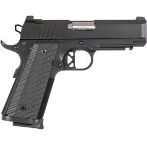 "Dan Wesson TCP .45 ACP 1911 Semi Auto Pistol 4"" Bull Barrel 8 Rounds Commander Sized Profile G10 Grips Black Duty Finish"