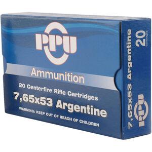 Prvi Partizan PPU Metric 7.65x53 Argentine Ammunition 20 Rounds 180 Grain SPBT 2545fps
