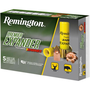 "Remington Premier Expander Sabot Slug 20 Gauge Ammunition 5 Rounds 3"" Copper Slug 250 Grains PRX20M"