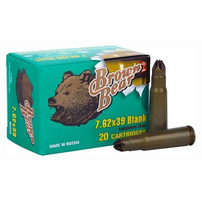 Ammo 7.62X39mm Brown Bear Blank 500 Round Case