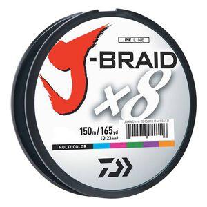 J-Braid Braided Line, 50 lbs Tested 165 Yards/150m Filler Spool, Multi Color