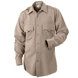 Elbeco LA County Sheriff West Coast Class B Long Sleeve Shirt Women's Size 42 Polyester /Cotton Silver Tan