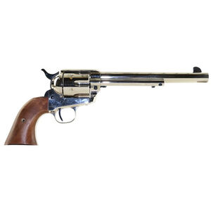 "Standard Manufacturing .45 Long Colt Single Action Revolver 7.5"" Barrel 6 Rounds Fixed Sights Two Piece Grip Nickel Finish"