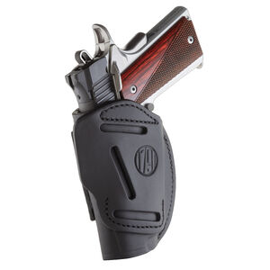 """1791 Gunleather 4 Way WH-1 Multi-Fit IWB/OWB Concealment Holster for 3""""/4"""" 1911 Semi Auto Models Right Hand Draw Leather Stealth Black"""