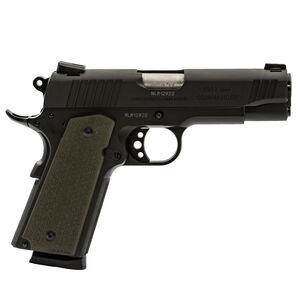 "Taurus 1911 Commander Single Action .45 ACP Semi Automatic Pistol 4.2"" Barrel 8 Rounds Novak Sights MagPul OD Green Grips Matte Black Finish"