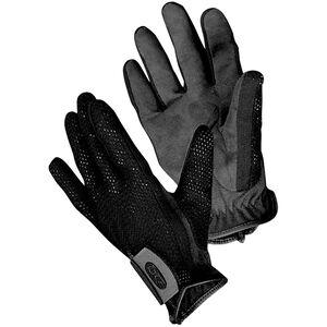 Bob Allen Shotgunner's Gloves Medium Mesh Body Suede Palm Velcro Wrist Strap Black