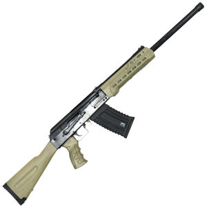 "Kalashnikov USA KS-12 Semi Auto Shotgun 12 Gauge 18.25"" Barrel 3"" Chamber 5 Rounds Fixed Sights FDE Polymer Furniture Matte Black"