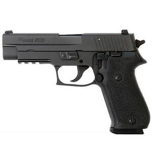 "SIG Sauer P220R Semi Auto Handgun .45 ACP 4.4"" Barrel 8 Rounds Picatinny Rail SIGLITE Night Sights Black Hogue Grips Black Alloy Frame Blakc Finish"