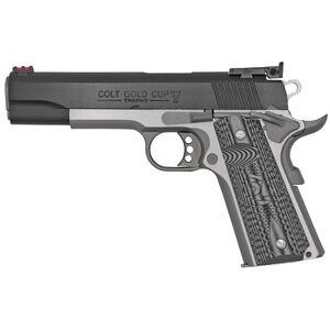 "Colt 1911 Gold Cup Lite Semi Auto Pistol .38 Super 5"" National Match Barrel 9 Rounds Fiber Optic Front Sight/Bomar Style Rear Sight Colt G10 Grips Two Tone"