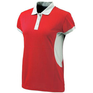 Beretta Special Purchase Women's Silver Pigeon Polo Short Sleeve 3XL Cotton Red and Silver