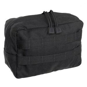 "Tac Shield Horizontal General Purpose Utility MOLLE Pouch 9""x6""x4"" Nylon Black T4102BK"