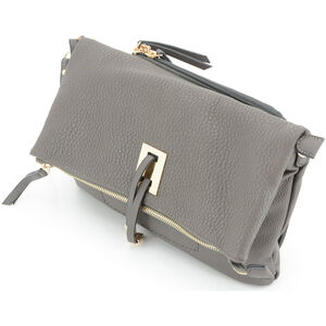 """Cameleon Aya Clutch/Crossbody Handbag with Concealed Carry Gun Compartment 13""""x8""""x3"""" Synthetic Leather Brown"""