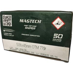Magtech First Defense Sniper 5.56 NATO Ammunition 50 Rounds HPBT 77 Grains 556C