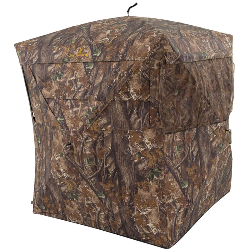 "Browning Illusion Hunting Ground Blind 55""x55""x66"" 600D Polyester Shadow-Flauge Camo"