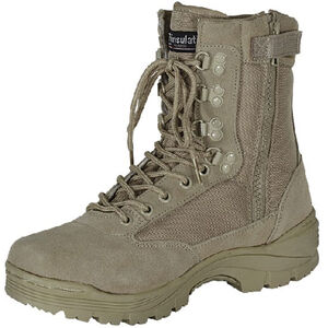 "Voodoo Tactical 9"" Tactical Boot Side Zipper Size 7.5 Regular Khaki 04-837883075"