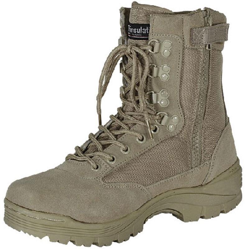 "Voodoo Tactical 9"" Tactical Boot Side Zipper Size 7.5 Regular Khaki 04-837883075"
