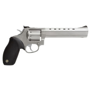 "Taurus Tracker 992 Double Action Revolver .22LR/.22 WMR 6.5"" Barrel 9 Rounds Fixed Front Sight/Adjustable Rear Sight Ribber Grip Matte Stainless Steel Finish"