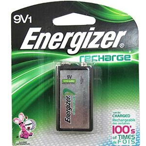 Energizer NiMH Rechargeable 9 Volt Batteries 1 Count NH22NBP