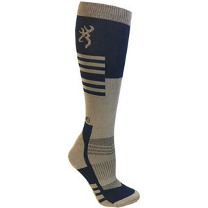 Browning Unisex Elm Socks Large Calf Height Polyester Blue and Taupe