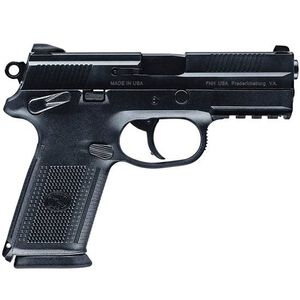 "FNH USA FNX-9 Semi Automatic Pistol 9mm Luger 4"" Barrel 10 Rounds Polymer Frame Black 66836"