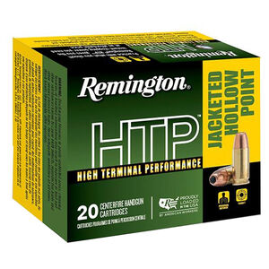 Remington HTP .40 S&W Ammunition 20 Rounds 155 Grain JHP 1205 fps