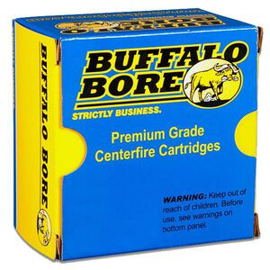 Ammo .357 SIG Buffalo Bore Low Flash Heavy 125 Grain FMJ Bullet 1425 fps 20 Rounds 25B