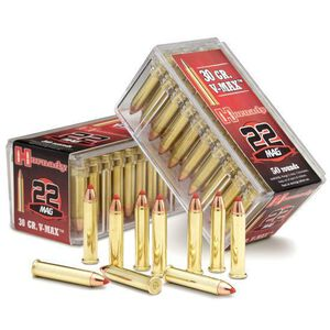 Hornady .22 WMR Ammunition 50 Rounds, V-Max, 30 Grains