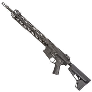 "Spikes Tactical .308 Roadhouse AR308 Style Semi Auto Rifle .308 Winchester NATO 18"" Barrel 15"" M-LOK Compatible Aluminum Free Float Hand Guard R2 Muzzle Device Collapsible Stock Matte Black"