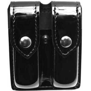 Safariland Model 77 Double Handgun Magazine Pouch GLOCK 20/21 Magazines High Gloss Finish Snap Closure Black 77-383-9