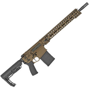 "POF Revolution DI .308 Winchester Semi Auto Rifle 16.5"" Barrel 20 Rounds M-LOK Rail, Burnt Bronze"