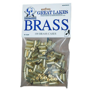 Great Lakes Firearms and Ammunition .40 S&W New Unprimed Brass 100 Pack 687375