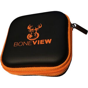BoneView Weather Resistant Carry Case Holds BoneView Game Camera Viewer and Spare SD Cards Black/Orange