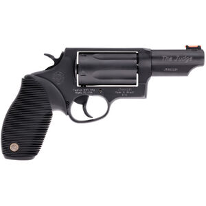 "Taurus Judge .45 Long Colt/.410 Bore Double Action Revolver 3"" Barrel 2.5"" Chamber 5 Rounds Fiber Optic Front Sight Taurus Ribber Grip Matte Black Oxide Finish"