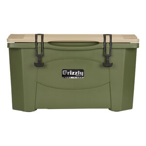 Grizzly Coolers Grizzly 40 Rotomolded 40 Quart Cooler Green/Tan