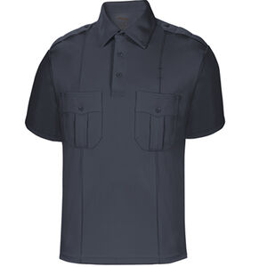 Elbeco UFX Uniform Polo Men's Short Sleeve Polo Med 100% Polyester Swiss Pique Knit Midnight Navy