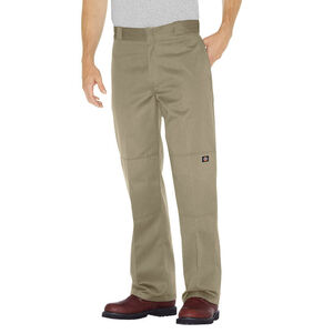 Dickies Men's Loose Fit Double Knee Work Pants 44x32 Khaki